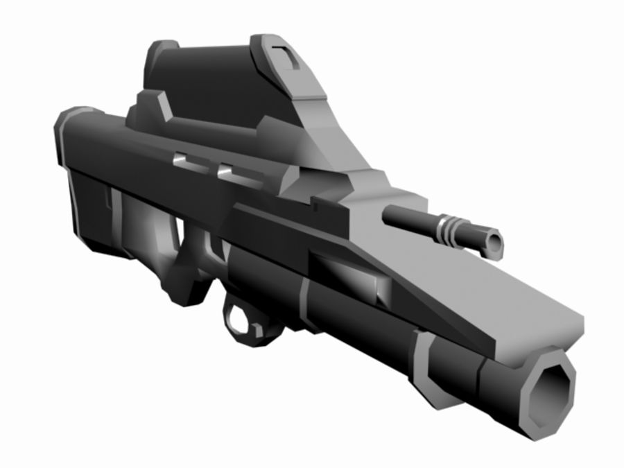 FN F2000 royalty-free 3d model - Preview no. 2