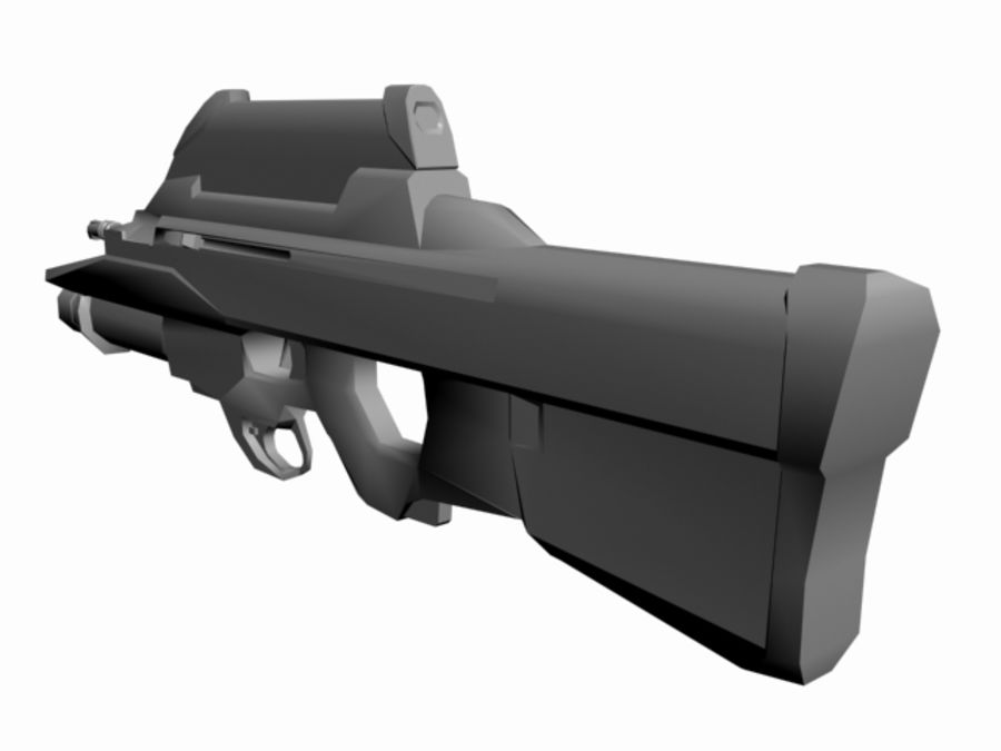 FN F2000 royalty-free 3d model - Preview no. 4