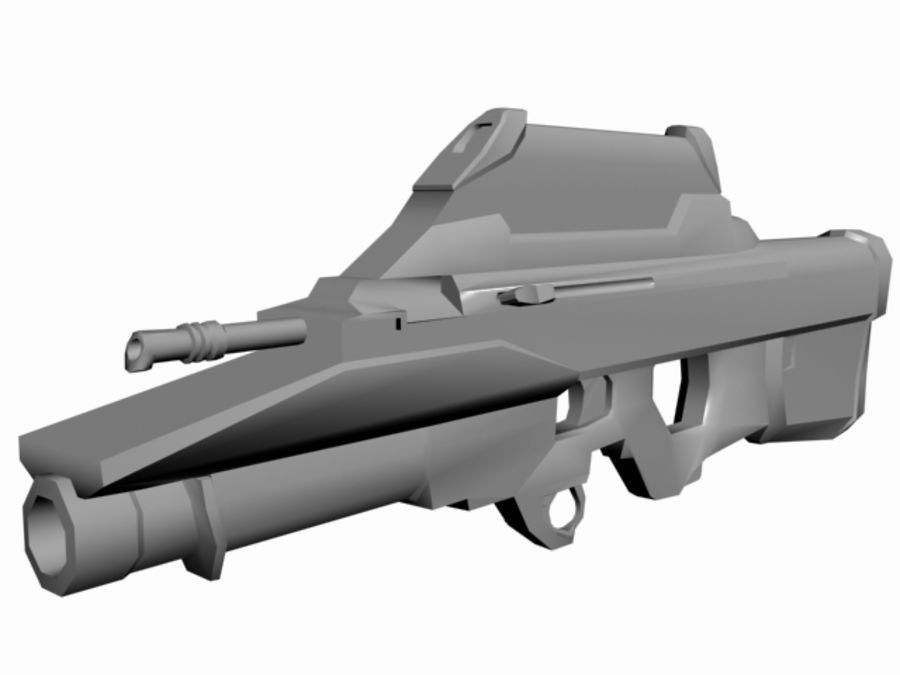 FN F2000 royalty-free 3d model - Preview no. 3