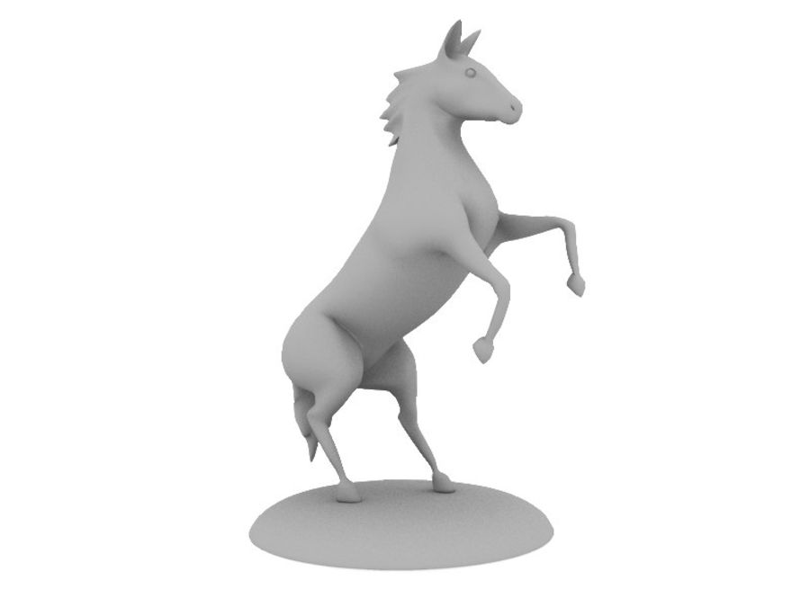 Horse royalty-free 3d model - Preview no. 7