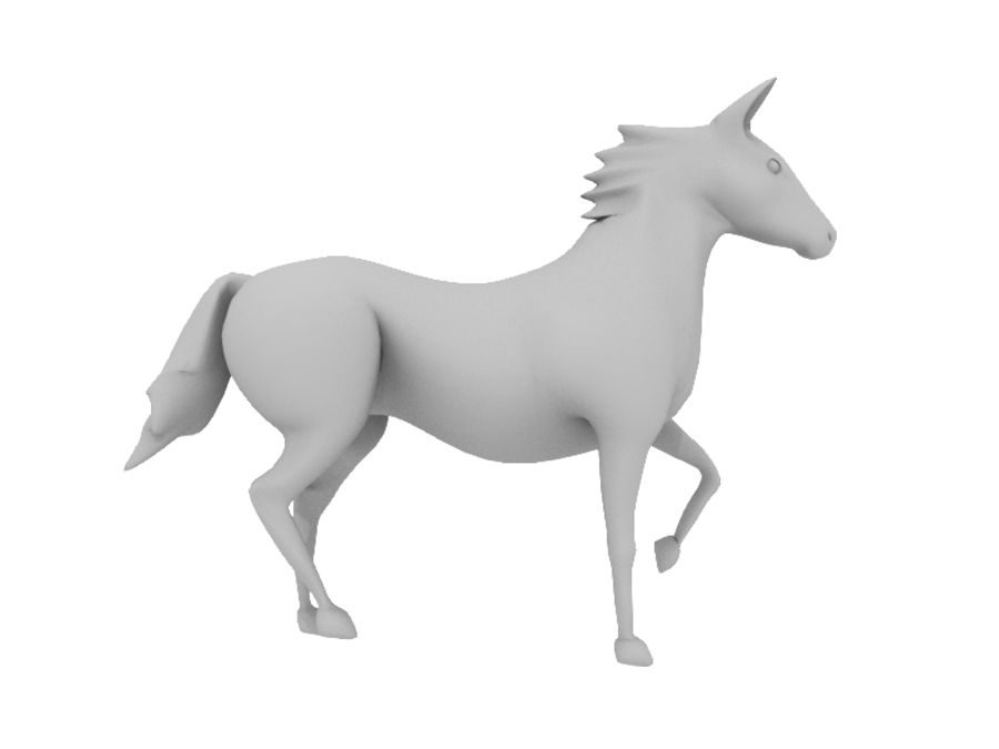 Horse royalty-free 3d model - Preview no. 5