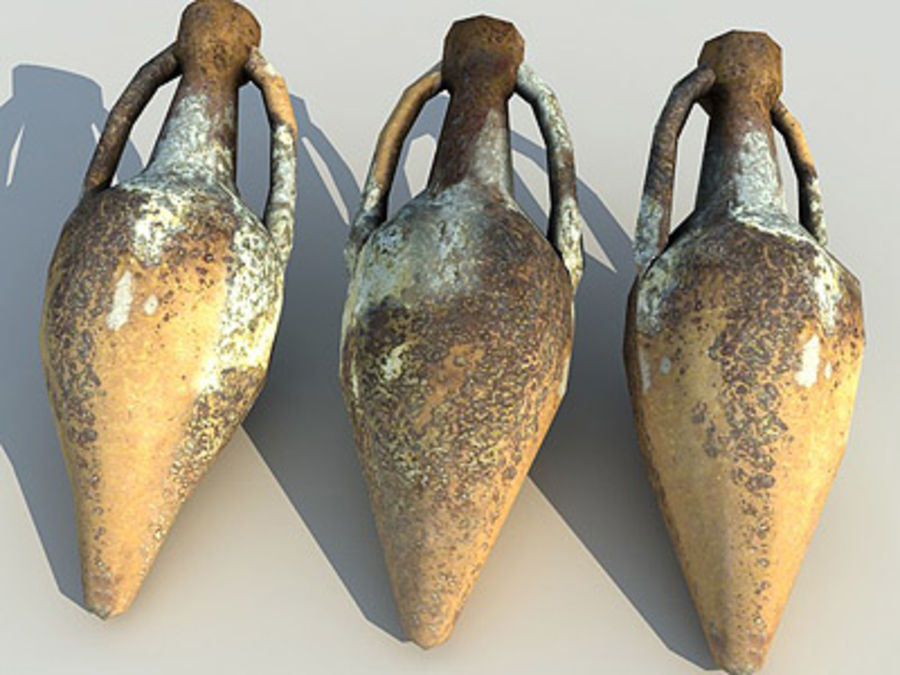 Amphora 01 royalty-free 3d model - Preview no. 1