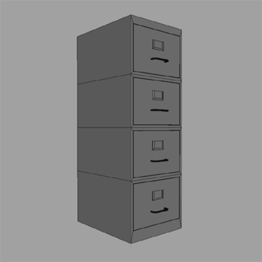 file cabinet royalty-free 3d model - Preview no. 4