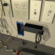 Electrical Parts 01 3d model