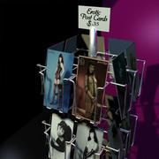 Stojak na karty pocztowe 01 3d model