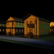 Military Barracks 01 3d model