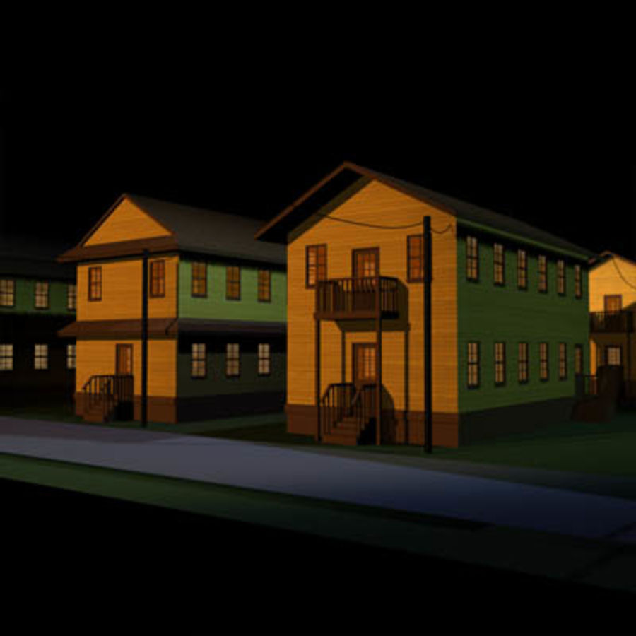 Quartel Militar 01 royalty-free 3d model - Preview no. 1