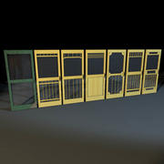 Screen Doors 01 3d model