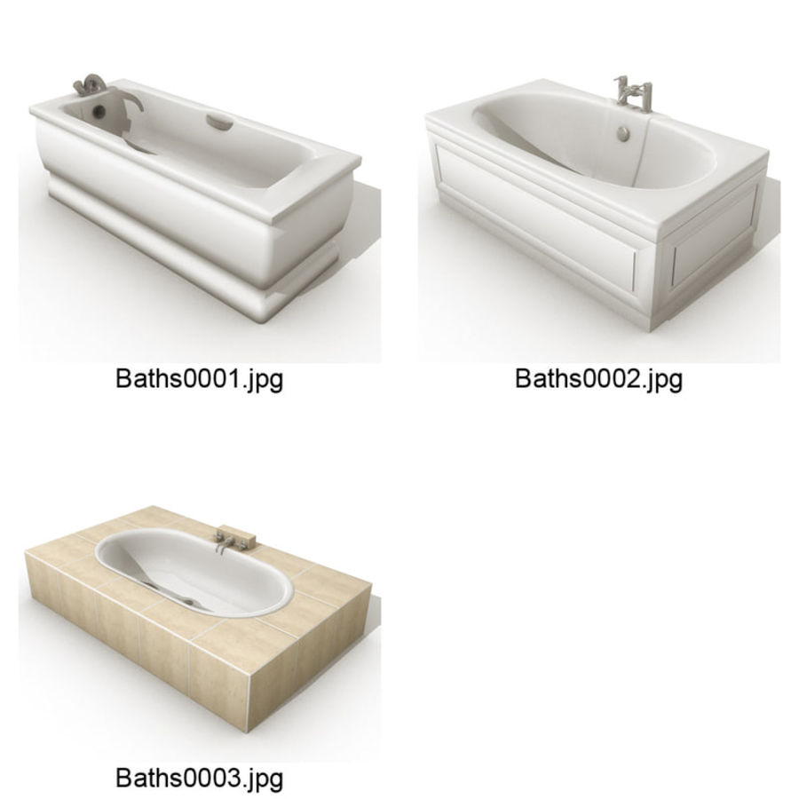 3_Baths.zip royalty-free 3d model - Preview no. 1