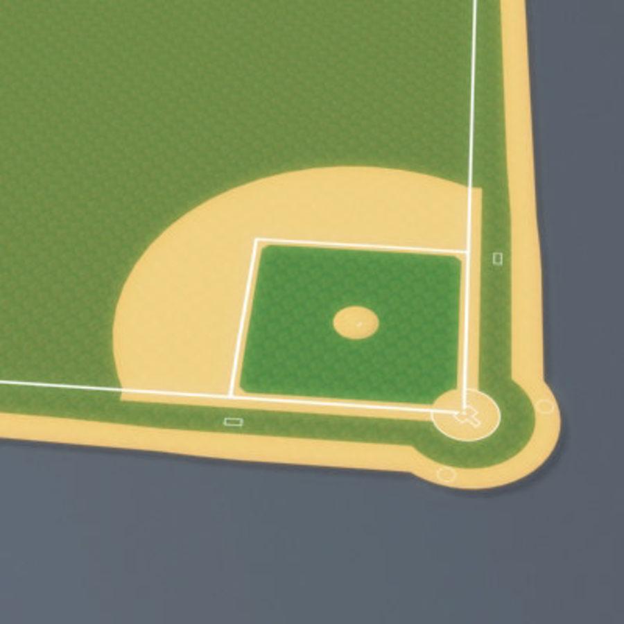 Campo de béisbol royalty-free modelo 3d - Preview no. 5