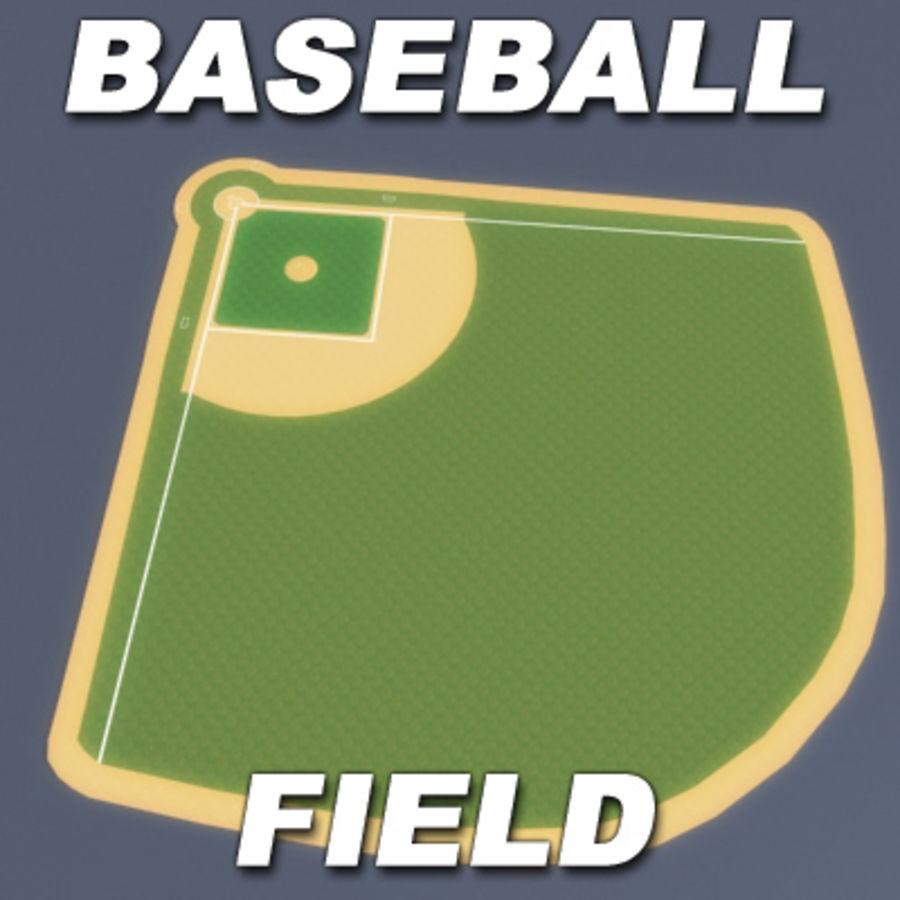 Campo de béisbol royalty-free modelo 3d - Preview no. 3