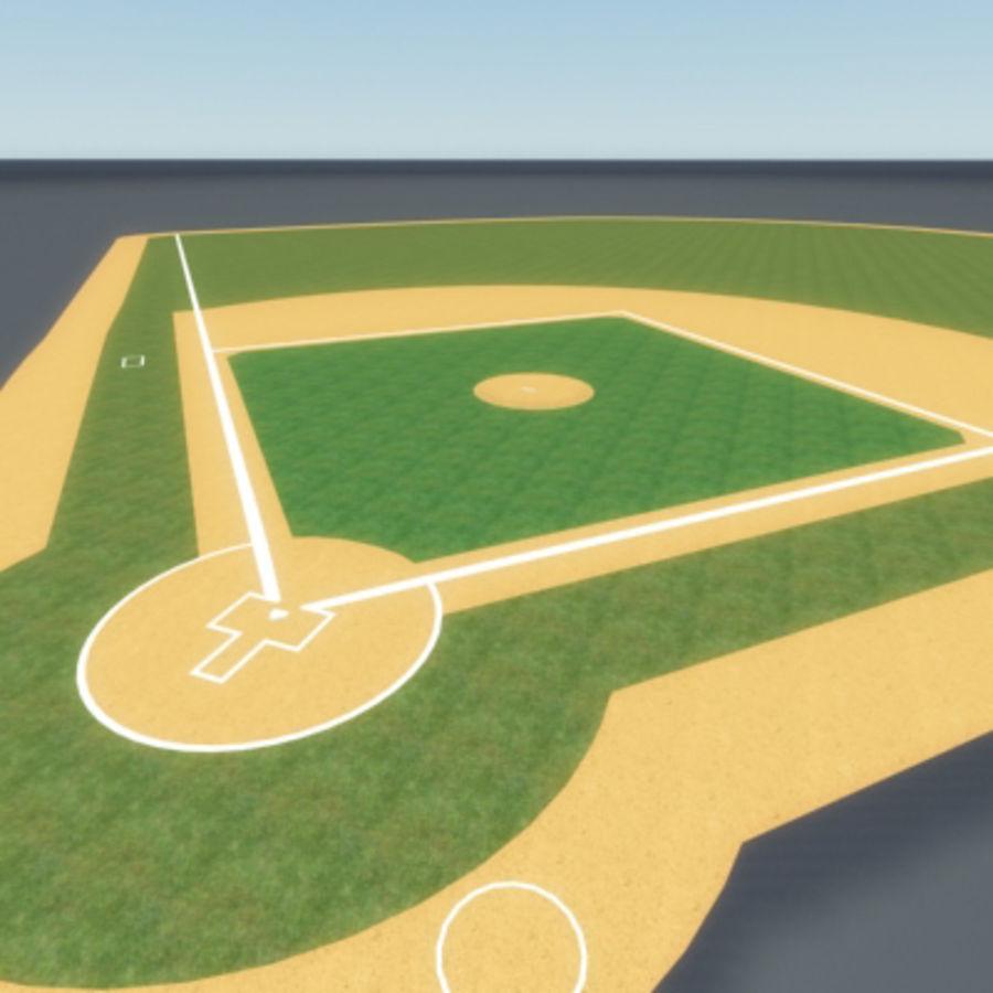 Campo de béisbol royalty-free modelo 3d - Preview no. 4