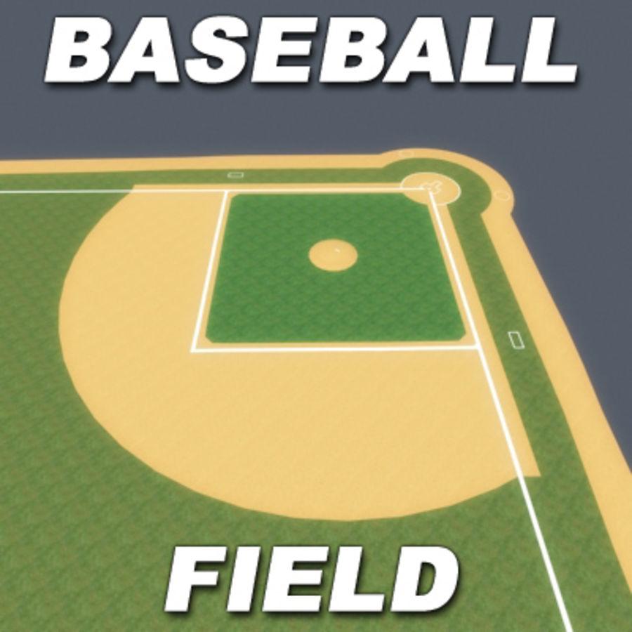 Campo de béisbol royalty-free modelo 3d - Preview no. 2