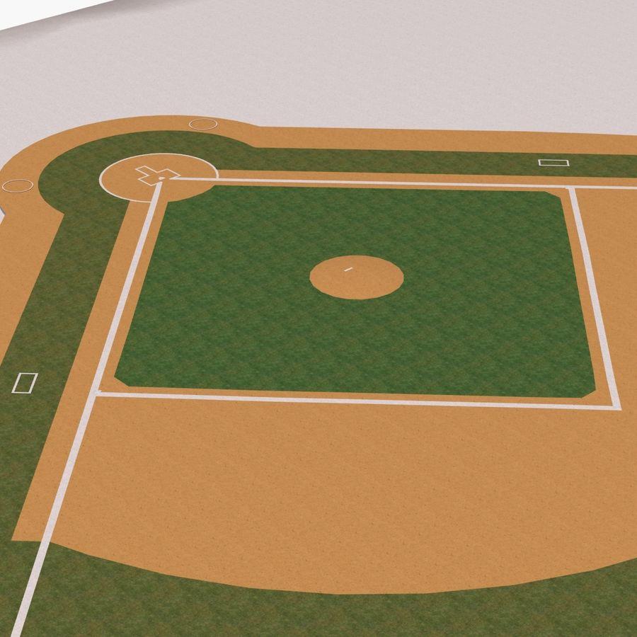 Campo de béisbol royalty-free modelo 3d - Preview no. 11