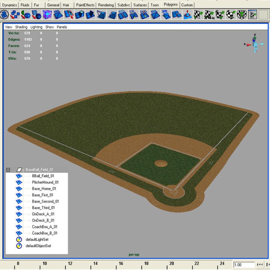 Campo de béisbol royalty-free modelo 3d - Preview no. 9