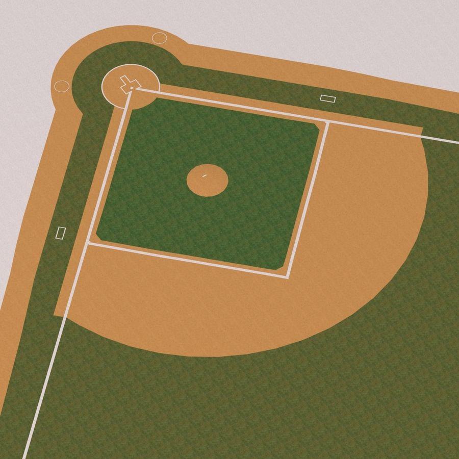 Campo de béisbol royalty-free modelo 3d - Preview no. 13