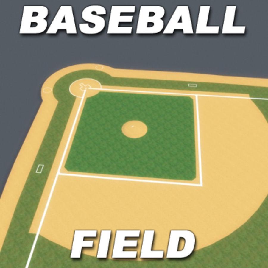 Campo de béisbol royalty-free modelo 3d - Preview no. 1