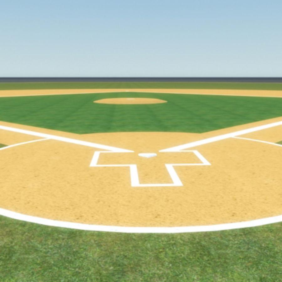 Campo de béisbol royalty-free modelo 3d - Preview no. 6