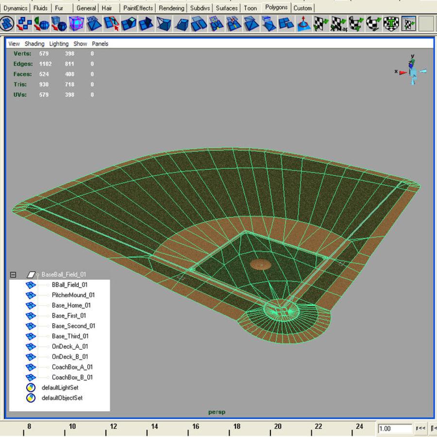 Campo de béisbol royalty-free modelo 3d - Preview no. 8