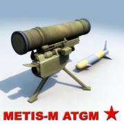 Metis-M AT-13 Missile 3d model