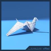 Papier Vogel Origami 3d model
