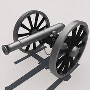 High Poly Civil War Cannon.zip 3d model