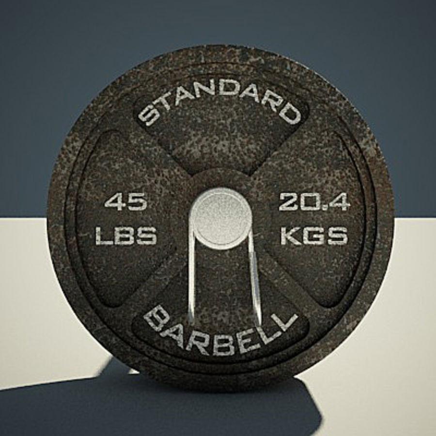 Olimpijska ławka wagi royalty-free 3d model - Preview no. 3