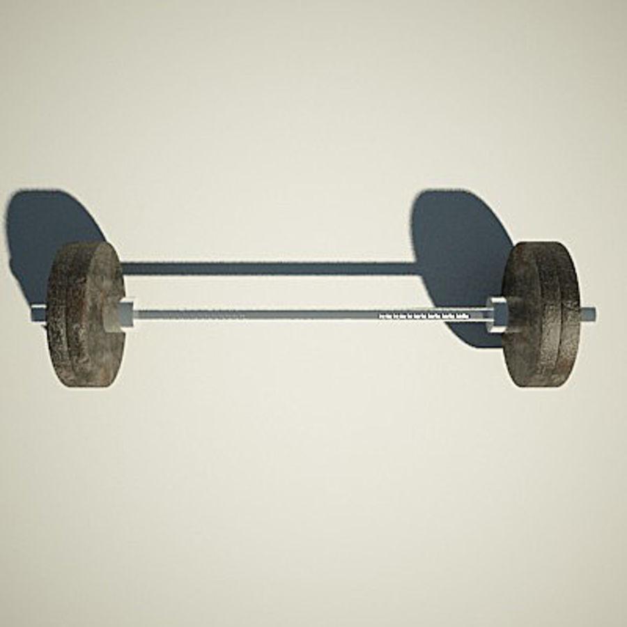 Olimpijska ławka wagi royalty-free 3d model - Preview no. 5