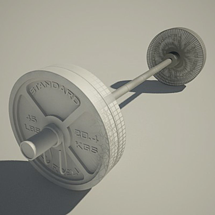 Olimpijska ławka wagi royalty-free 3d model - Preview no. 2