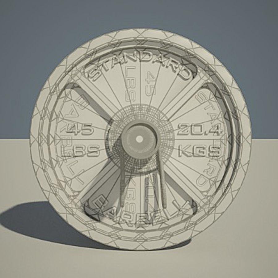 Olimpijska ławka wagi royalty-free 3d model - Preview no. 4