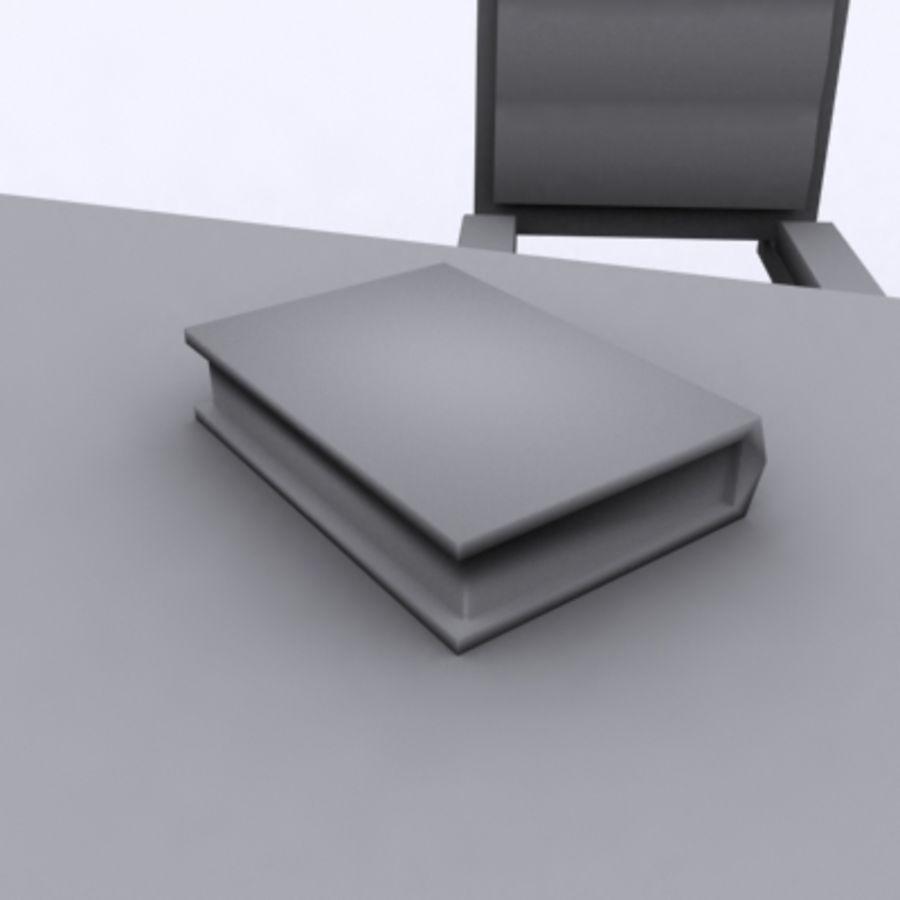 Scrivania E Sedia royalty-free 3d model - Preview no. 6