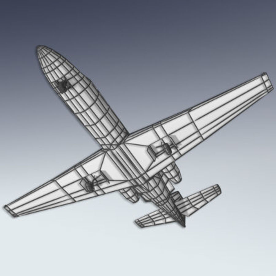 Corporate Jet Aircraft royalty-free 3d model - Preview no. 8