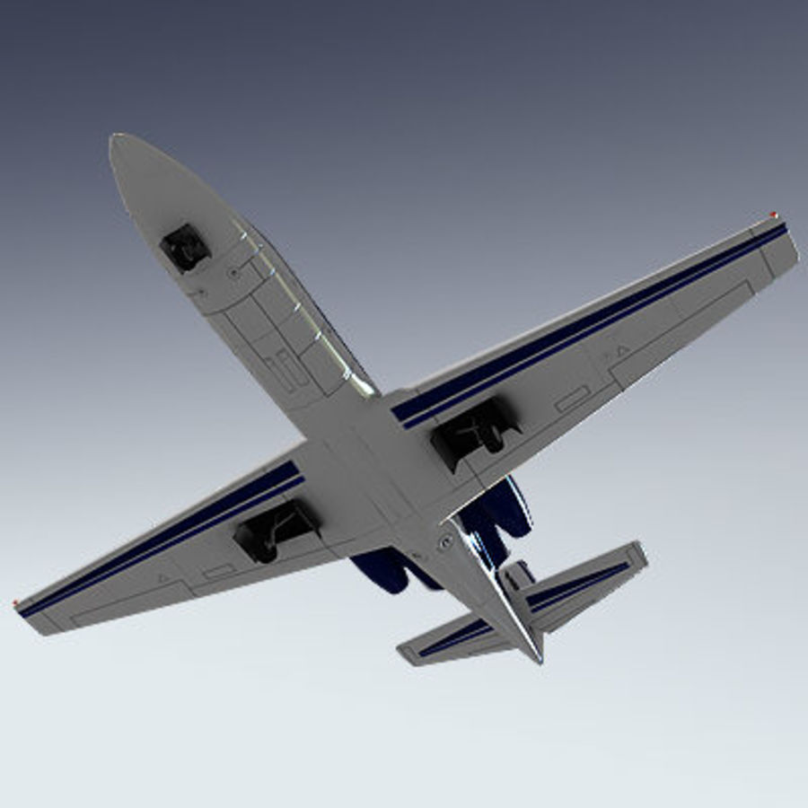 Corporate Jet Aircraft royalty-free 3d model - Preview no. 3