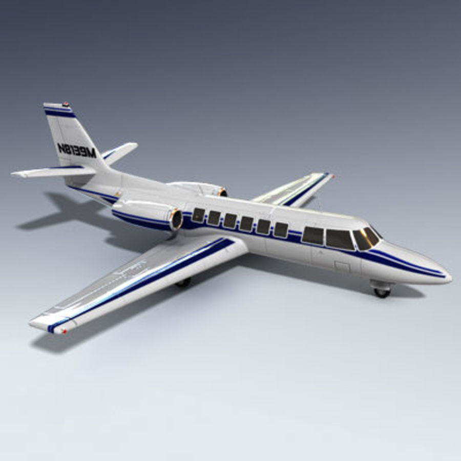 Corporate Jet Aircraft royalty-free 3d model - Preview no. 2