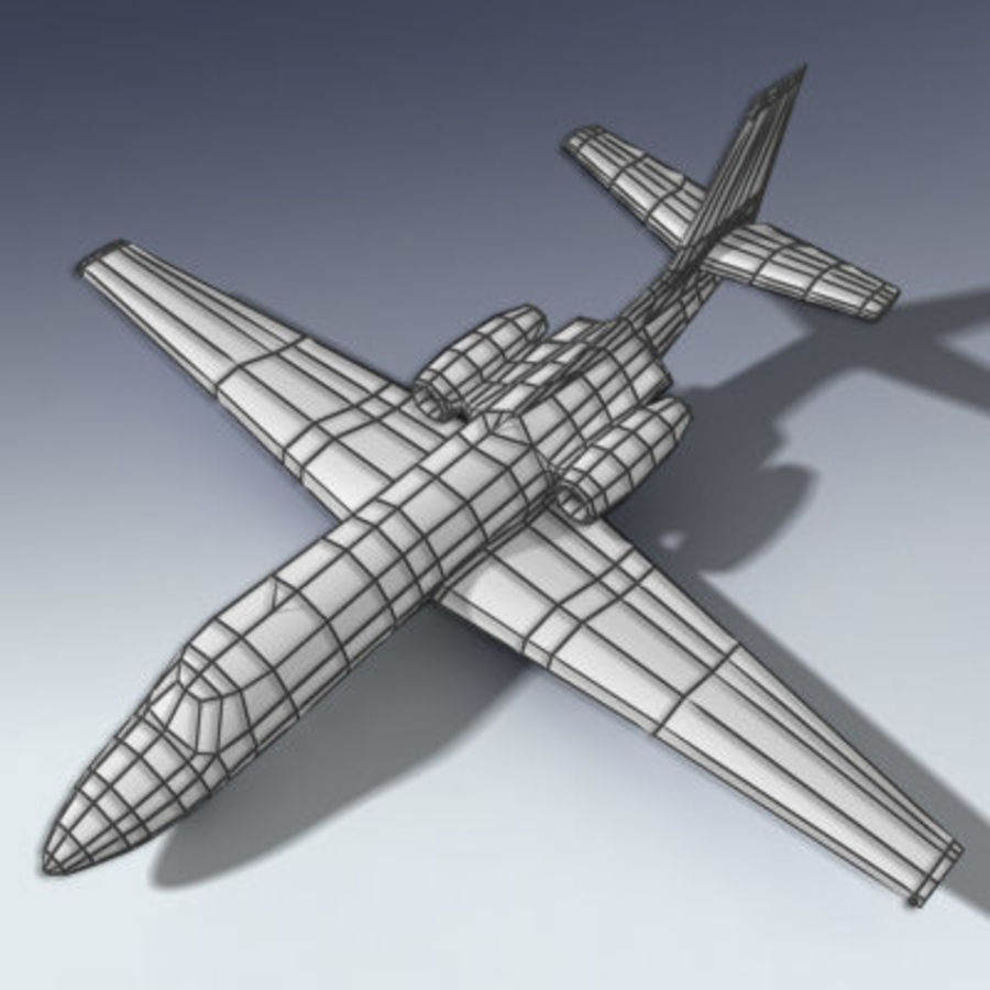 Corporate Jet Aircraft royalty-free 3d model - Preview no. 7