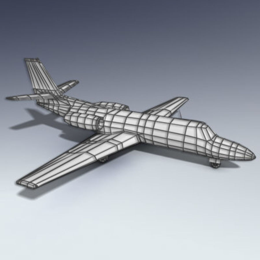 Corporate Jet Aircraft royalty-free 3d model - Preview no. 6