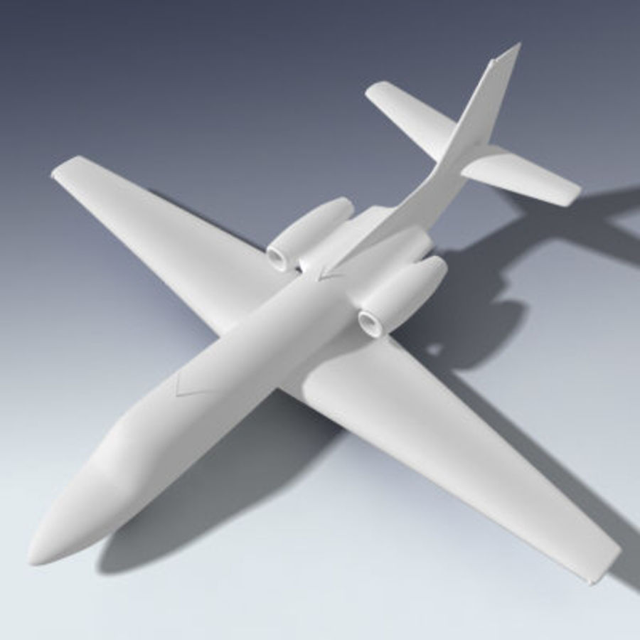 Corporate Jet Aircraft royalty-free 3d model - Preview no. 5