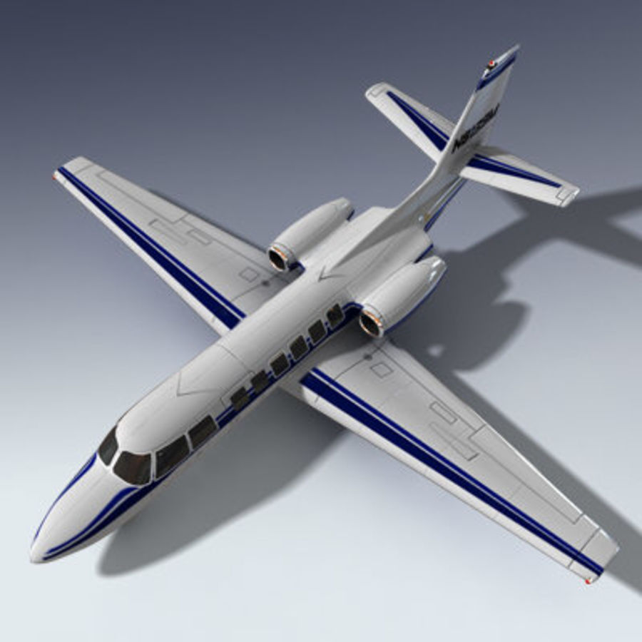 Corporate Jet Aircraft royalty-free 3d model - Preview no. 1