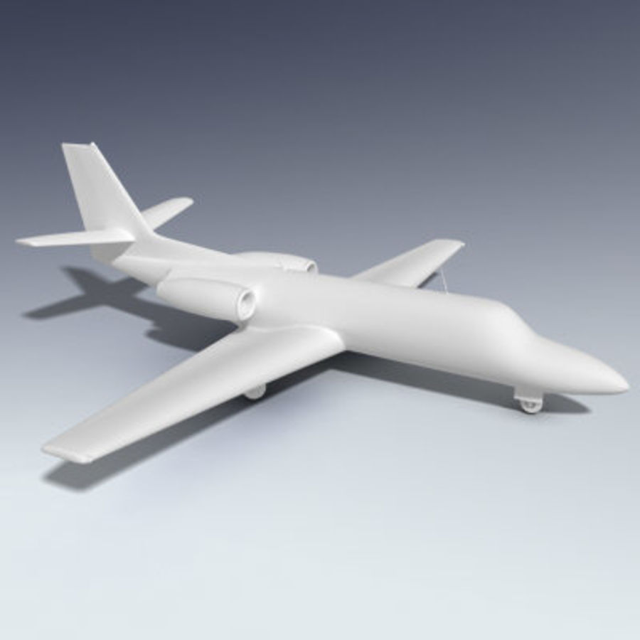 Corporate Jet Aircraft royalty-free 3d model - Preview no. 4