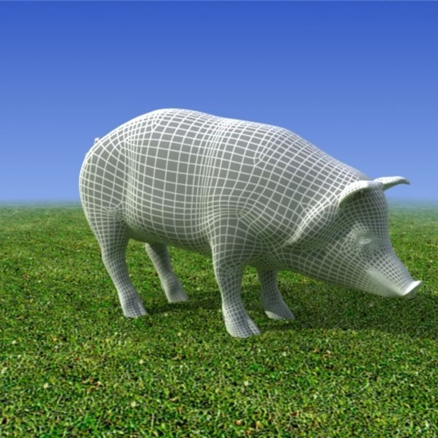 Pig Low poly 3D Model royalty-free 3d model - Preview no. 4