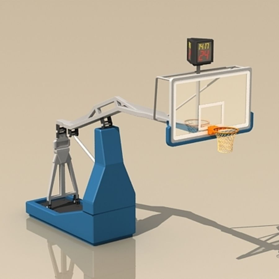 Basketball Backboard royalty-free 3d model - Preview no. 1
