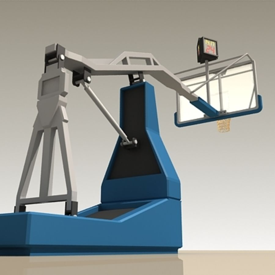Basketball Backboard royalty-free 3d model - Preview no. 8