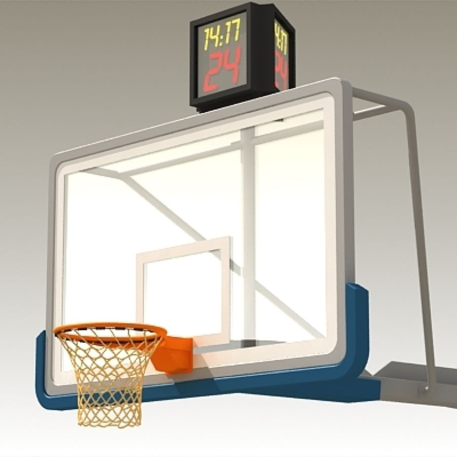 Basketball Backboard royalty-free 3d model - Preview no. 3