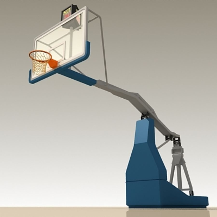 Basketball Backboard royalty-free 3d model - Preview no. 7