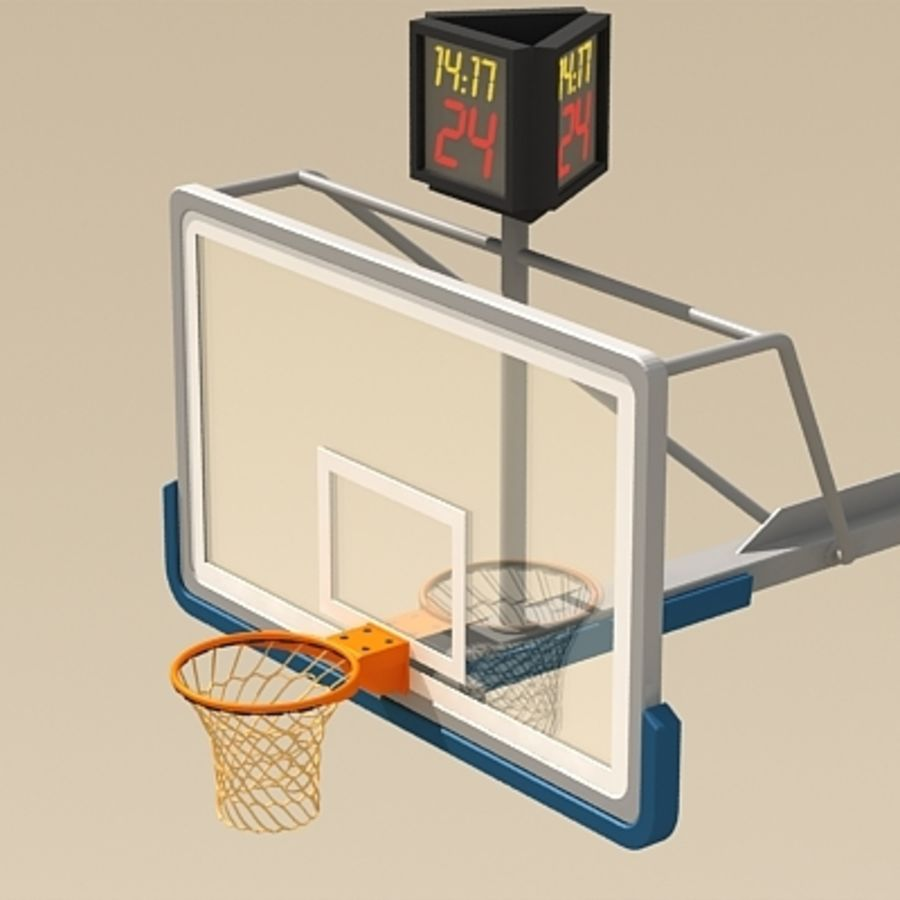 Basketball Backboard royalty-free 3d model - Preview no. 5