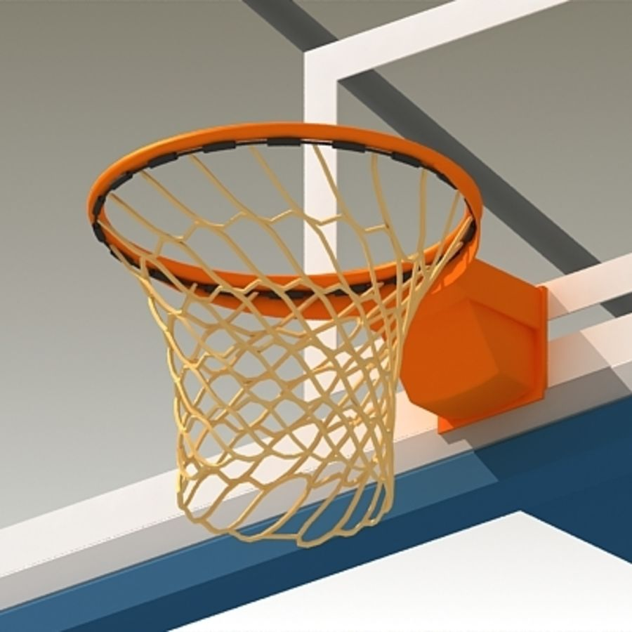 Basketball Backboard royalty-free 3d model - Preview no. 4