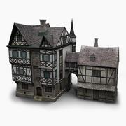 古いドイツの家 3d model