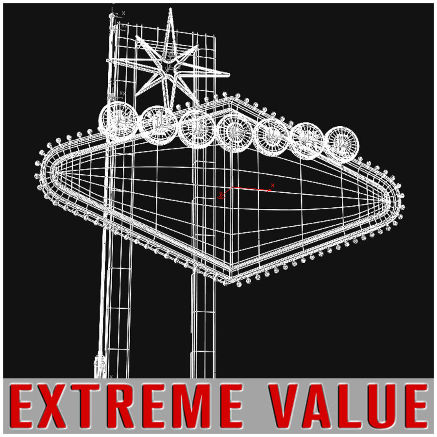 Vegas Sign royalty-free 3d model - Preview no. 6