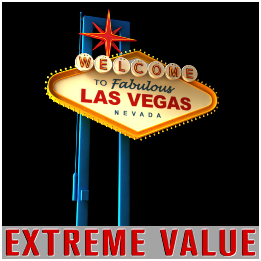 Vegas Sign royalty-free 3d model - Preview no. 3