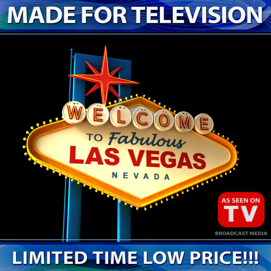 Vegas Sign royalty-free 3d model - Preview no. 1